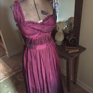 Dresses & Skirts - Beautiful one shoulder Greek  wine gown. NWT