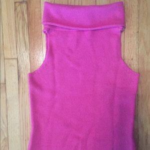 White + Warren Tops - White&Warren pink sleeveless turtleneck sweater