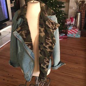 Vintage lined denim jacket