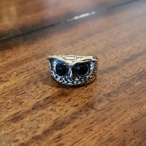 Antique Gold Plated Owl Ring