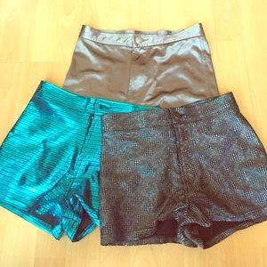 Pants - Disco Booty Shorts (Set of 3)