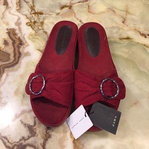 Zara Women Slip on Sandals Size 41