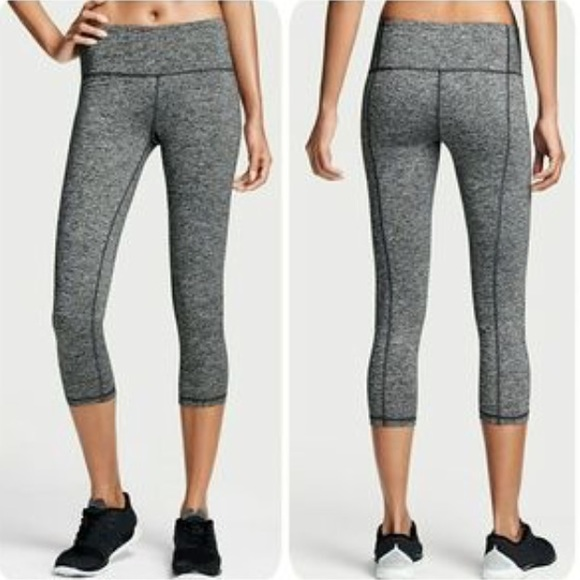 68% off Victoria's Secret Pants - VSX Knockout Grey Capri Workout ...