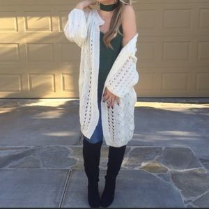 Sweaters - Cable Knit Cardi