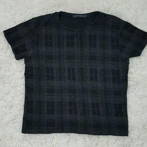 Brandy Melville Tops - Brandy Melville Plaid Crop Top OS Sweater Shirt