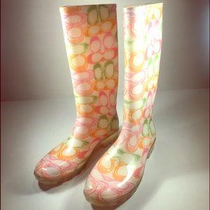 Coach Shoes - COACH Pixy Rainboots. Ladies Size 10