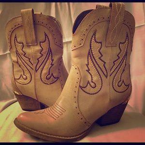Volatile Shoes - Calico Cowboy Boots
