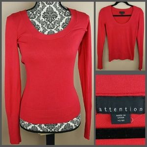 Attention Sweaters - Red Sweater by Attention Size XS