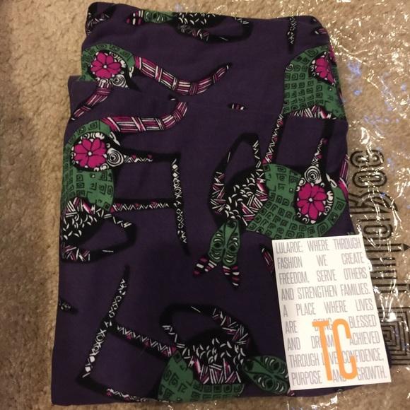 eb441784553386 LuLaRoe Pants | Tc Kangaroo Kangaroos Purple Leggings | Poshmark