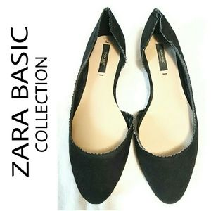 ZARA  Shoes - ZARA BASIC Collection  Suede Flats