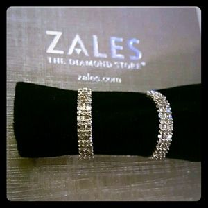 Zales Jewelry - 14k white gold hoops with real diamonds