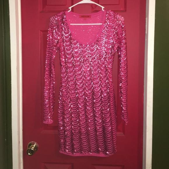 e7362d94e4e4f2 WOW couture Dresses   Hot Pink Sequin Mini Dress   Poshmark