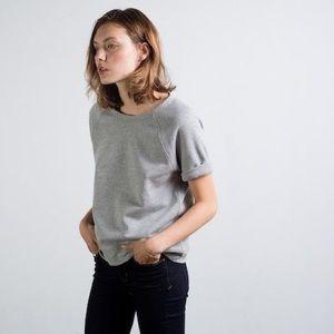 Kensie Gray Sweatshirt Tee