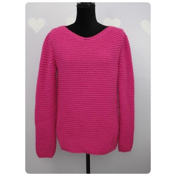 e2c5bf94492 Zara Knit Hot Pink Oversize Cable Knit Sweater. M 5855f85d6d64bca7e70271a6