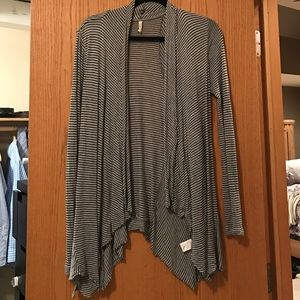 Willow & Clay cascading striped cardigan
