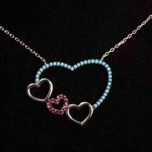 ❤️HEART of MY HEART TURQUOISE➕RUBY NECKLACE❤️