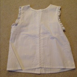 . Other - Final price White tank style blouse!