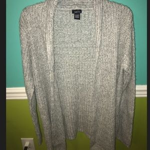 Grey and white Rue 21 cardigan