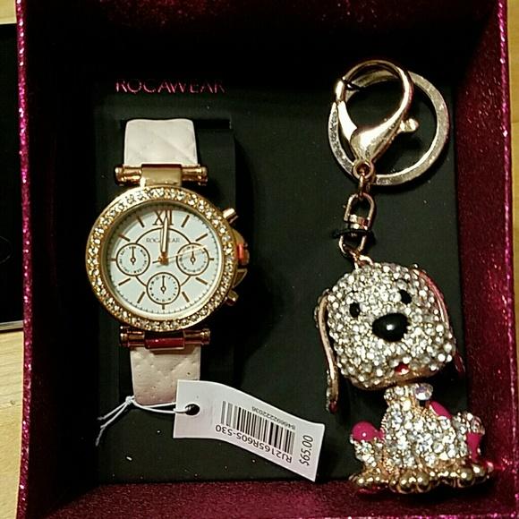 Rocawear Jewelry Watch And Key Chain Gift Set Poshmark