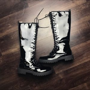 Shoes - C Label Knee High Combat Boots