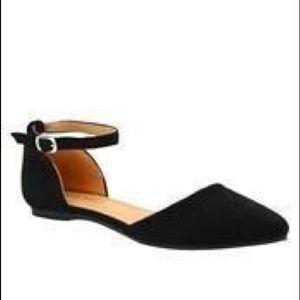 Shoes - Black ankle strap flats