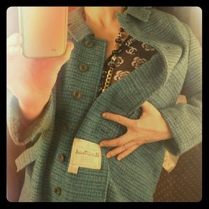 Vintage Hand woven tweed 100% virgin Scottish wool