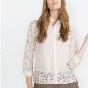 Zara lace top - brand new but no tag