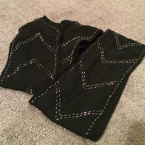 Black beaded silk Ann Taylor scarf - NWT