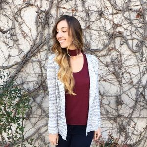 Sweaters - | new | grey and white cardigan