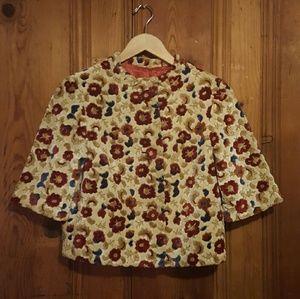 Vintage Floral Box Coat