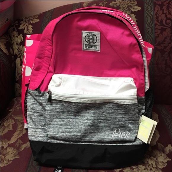 82812d065f479 NWT Victoria Secret Pink Campus Backpack