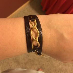 Gorjana Jewelry - Gorjana brown leather wrap bracelet!