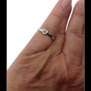 Tiffany & Co. Jewelry - Tiffany & Co. Sterling silver sapphire heart ring