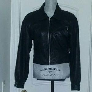 Vintage GIII Black Leather Motorcycle Jacket S