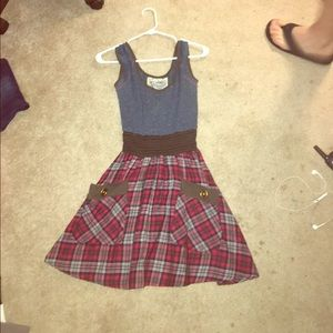 Plaid Pocketed dress