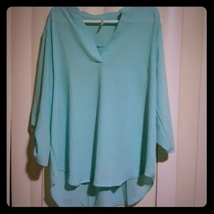 DNA Couture light blue Blouse 3XL NEW