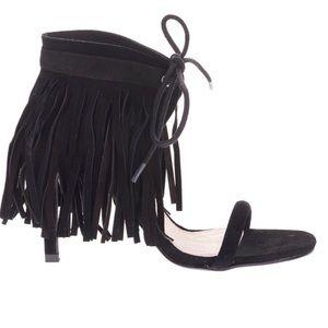 🔵Sol Sana $165* Mavin Black SUEDE Fringe Heels