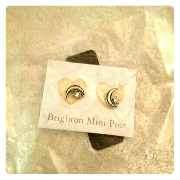 Brighton silvery moon earrings NWT