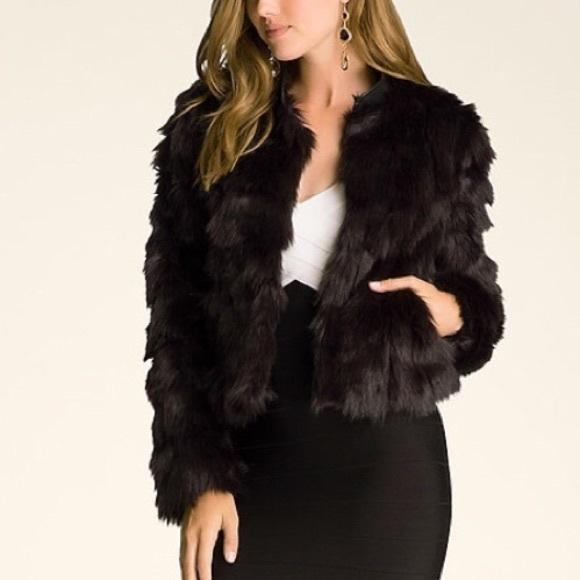 62b029ac6 bebe Jackets & Coats | Cropped Faux Fur Jacket Animal Print | Poshmark
