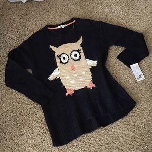 Navy blue Owl sweater