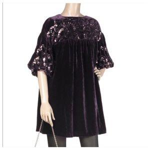 Nanette Lepore Dresses & Skirts - NANETTE LEPORE VELVET POET SLEEVE DRESS