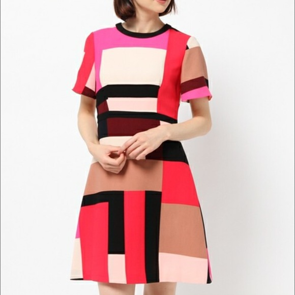 5c4ebcec9f kate spade Dresses   Skirts - Kate Spade Effie dress in Graphic Pink  Colorblock