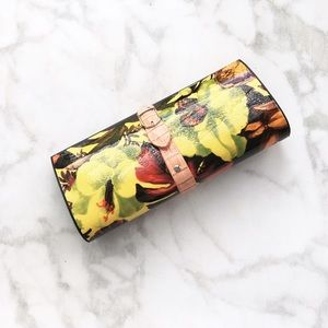 Handbags - HARD SHELL TROPICAL FLOWER CLUTCH