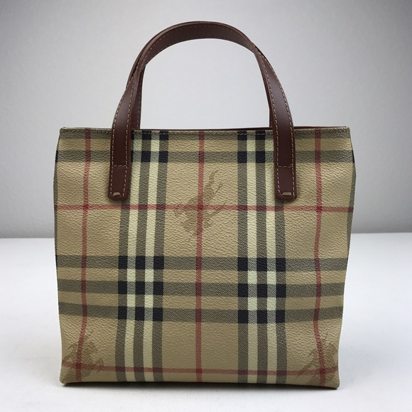4f3616eb84ea Burberry Handbags - Burberry Haymarket Check coated Canvas Mini Tote