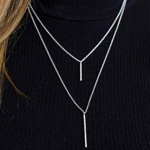 Gorjana Kiernan Double Pendant Nacklace (Silver)