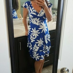 Lovely royal blue and white floral dress