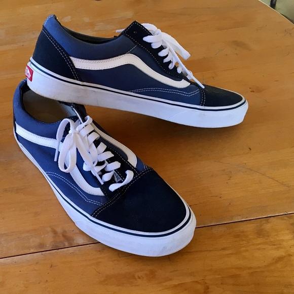 Facile da capire Medicina Reattore  Vans Shoes   Mens Dark And Light Blue Vans Like New   Poshmark