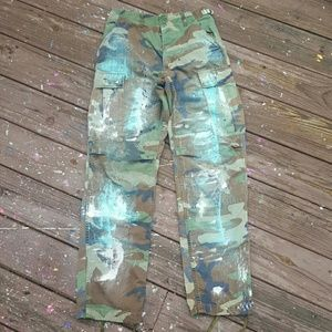 Pants - Custom Painted Camouflage Pants