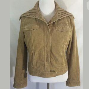 J. Crew Jackets & Blazers - J Crew Corduroy Jacket Coat Tan Brown Snap Front