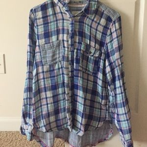 H&M Tops - 🆑Plaid shirt 💐last chance💐
